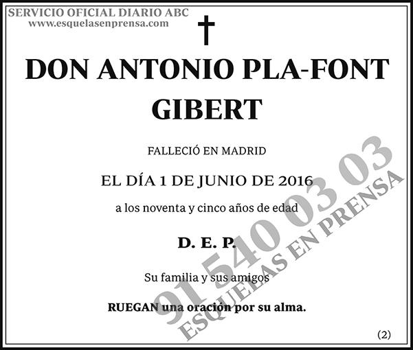 Antonio Pla-Font Gibert